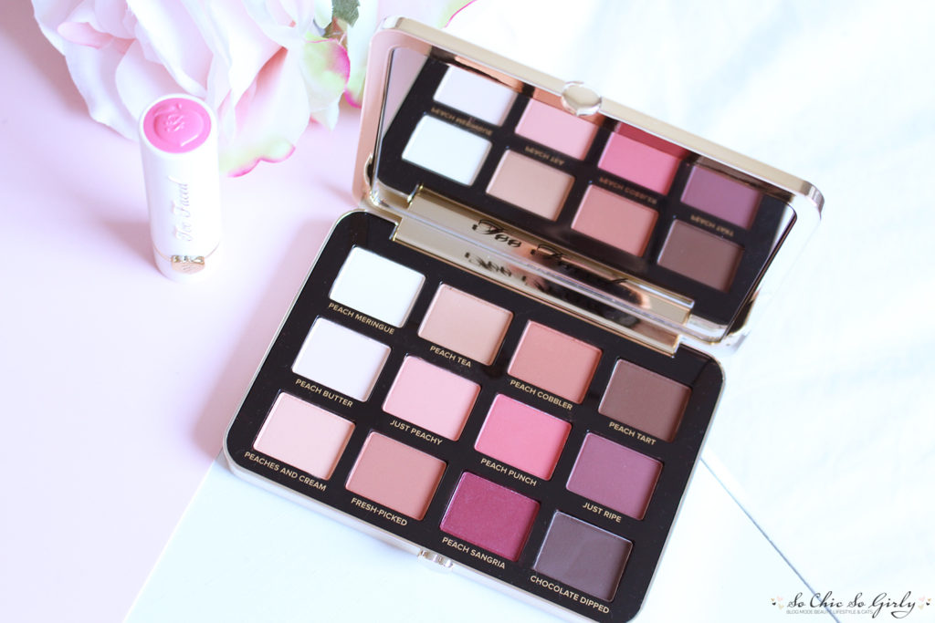 Peaches and Cream : les fards de la palette